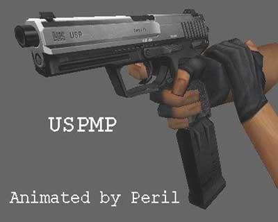 Солидная модель пистолета пулемета usp